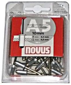 Заклепки потайные алюминиевые А4 х 6 мм (30 шт.)