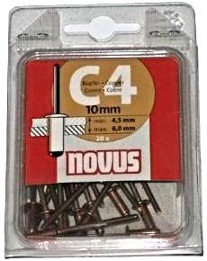 Заклепки потайные медные C4 х 12 мм