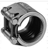 Соединительная муфта STRAUB PLAST-GRIP - стяжной механизм из оцинкованной стали (VZ)