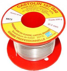 Мягкий припой в катушке Castolin 157 без свинца для низкотемпературной капиллярной пайки