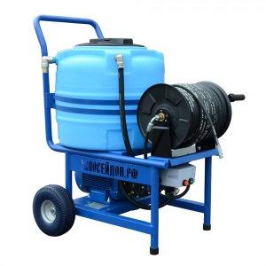 Высоконапорный водоструйный аппарат с электроприводом и баком для воды