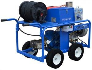 Высоконапорный водоструйный аппарат с электроприводом и подогревом воды