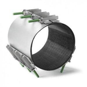 Ремонтные хомуты из нержавеющей стали Romacon RS-3 (для труб 267-1000 мм, 3 затвора)