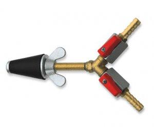 Адаптер с двойным / запорным вентилем