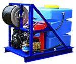 Высоконапорный водоструйный аппарат с бензиновым двигателем